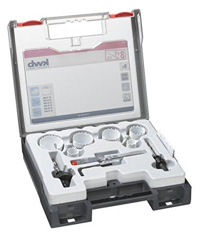 KWB 9pezzi installatore Set di n. 2con bi metallo Seghe a tazza 598270(HSS Co, Vario dentatura, 8% COBALT, incluso Tester di tensione)