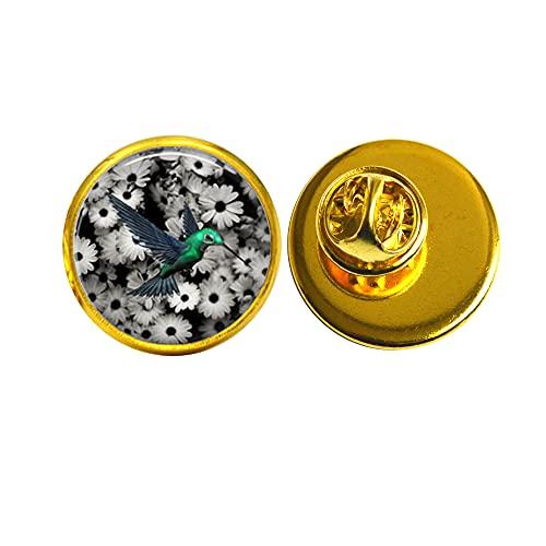 New Art Glass Cabochon Brooch Hummingbird Brooch Hummingbird Pin Glass Dome Pin Brooch,PU123