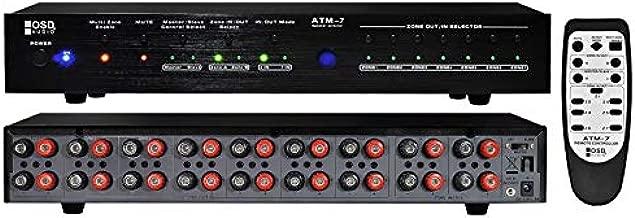 OSD Audio ATM-7 ATM7 Automatic 7-Zone Speaker Selector w/IR Remote Control IR Code