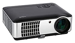 """ivolum LED Home Theater Beamer HBP-3000 - Full HD to 200 """"Diagonal - 2800 Lumen - HDMI - Videos & Images directly from the USB stick"""