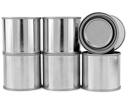 Cornucopia Metal Paint Cans with Lids (1/4 Pint Size, 6-Pack), Empty Unlined Quarter Pint Paint Pails