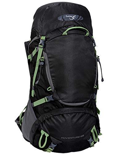 Freetime Sacs à Dos 65 L Noir - Adventure 65L- Le Sac pour Moyenne à Grande randonnée 1 à 5 Jours