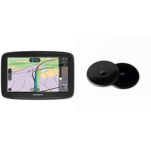 TomTom Navigatore Satellitare per Auto Via 52, Display da 5 Pollici, Europa 48 GPS per Auto Dischi Adesivi di Montaggio su Cruscotto per Tutti i Navigatori TomTom Start, Via, GO, GO Basic