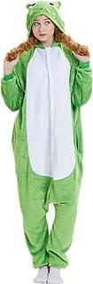 ABYED ABYED Kostüm Jumpsuit Onesie Tier Fasching Karneval Halloween kostüm Erwachsene Unisex Cosplay Schlafanzug- Größe XL -for Höhe 175-181CM, Frosch