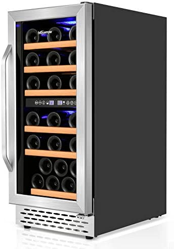 Wine Cooler Nictemaw 32 Bottle Dual Zone Wine Fridge Fast Cooling Low Noise and No Fog Wine product image