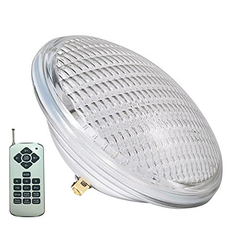 RGBW PAR 56 Bombilla de piscina Luz LED para piscina PAR56 12V Lámpara de spa submarina IP68 a prueba de agua con control remoto Certificado CE ROHS FCC ( Color : RGB+White with Remote , Size : 45W )