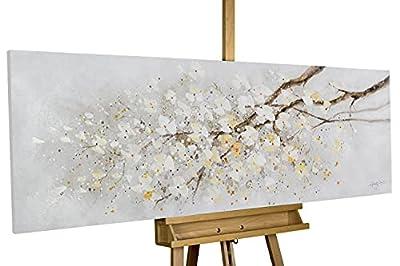 El cuadro acrílico 'Entre ramas que se cruzan' de medidas 150x50cm es una obra de arte moderno pintada a mano con el tema 'Flores de cerezo ramas Blanco '. No es una impresión de poco valor; podrá sentir la intensa textura de los colores acrílicos. N...