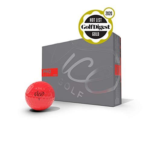 Vice Golf PRO Soft 2020   12 Golf Bälle   Eigenschaften: 3-Piece Cast Urethan, weiches Schlaggefühl, hohe Ballflugstabilität   Mehr Farben: White, NEON Lime   Profil: Für anspruchsvolle Golfer