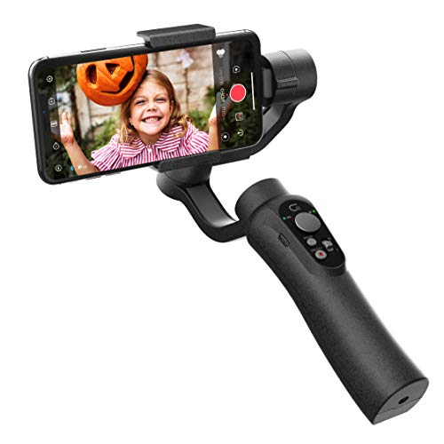 CINEPEER C11 Smartphone Gimbal, estabilizador de movil, estabilizador de cardán de Mano de 3 Ejes para iPhone, Android, Vlog, grabación de Video en Vivo