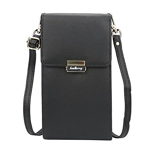 Zhou-YuXiang Baellerry Fashion Purse Casual Money Clip Wallet Monedero de Cuero Multifuncional ID Titular de la Tarjeta de crédito Regalo innovadorNegro