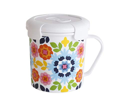 French Bull 23 oz Soup Mug With Handle and Vented Lid Food Storage-Cool Grip Leak Proof Dishwasher and Microwave Safe Lunch Travel Airtight, Sus