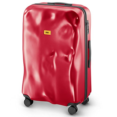 Trolley Crash Baggage linea Icon rosso