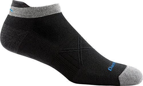 Darn Tough Vertex No Show Tab Ultra-Light Black Sports Socks Size : 46-50