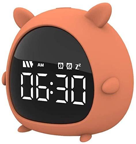 YXFYXF Digitaler Wecker für den Nachttisch, moderner Kinderwecker, Bluetooth, Datumsanzeige, Uhrzeit, Schlummerfunktion, Nachttischdekoration, Digitalwecker