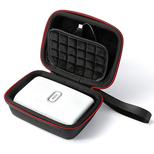 Hard Travel Case für Fujifilm Instax Mini Link Smartphone-Drucker, Tragetasche - Schwarz (schwarzes Futter)
