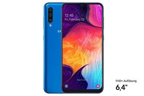 Samsung Galaxy A50 SM-A505F 16.3 cm (6.4') 128 GB 4G Blue 4000 mAh Galaxy A50 SM-A505F, 16.3 cm (6.4'), 1080 x 2340 pixels, 2.3 GHz, 128 GB, 25 MP, Blue