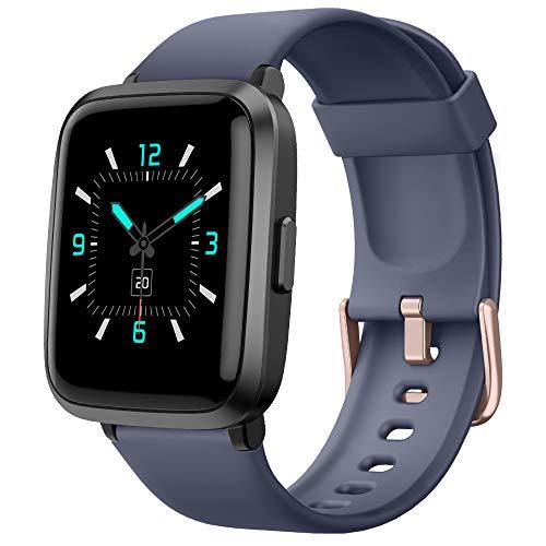 Yamay Smartwatch,Fitness Armbanduhr mit Blutdruck Messgeräte,Pulsoximeter,Pulsuhren Fitness Uhr Wasserdicht IP68 Fitness Tracker Schrittzähler Uhr für Damen Herren Smart Watch für iOS Android Handy