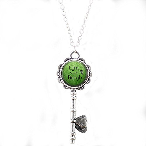 stap Erin Go Bragh key Necklace - Irish Jewelry - St. Patrick's Day key Necklace - Celtic key Necklace - Celtic key Necklace - key Necklace