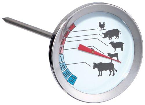 Karcher Fleisch- und Bratenthermometer, für Fleisch, Ø 5 cm, Länge 12,5 cm, Geflügel oder Fisch, Edelstahl