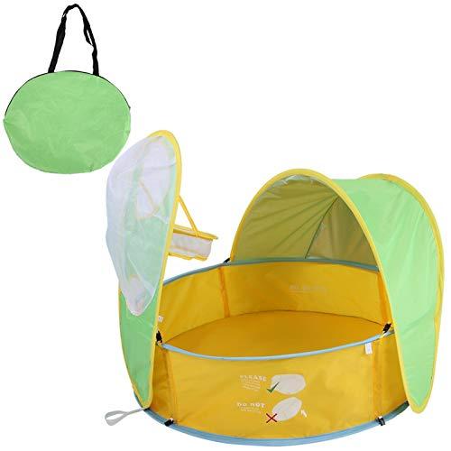 DAUERHAFT Carpa de Playa portátil Anti-UV para Piscina, Carpa de Piscina para niños Resistente y Duradera, casa de Juegos de natación para niños, para bebés en Verano al Aire Libre