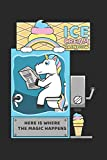 Ice Cream Rainbow Here Is Where The Magic Happens: DIN A5 Einhorn Eismaschine Notizheft | 120 Seiten gepunktetes Einhorn Eismaschine Notizbuch für ... | Eine tolles Geschenk für Ihre Liebsten.