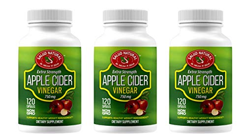 3 PACK APPLE CIDER VINEGAR EXTRA EXTRENGTH 750 MG 120 CALSULES