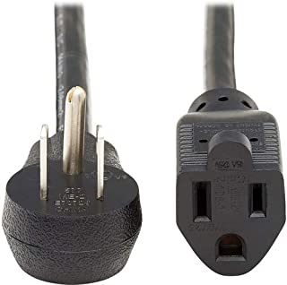 Tripp Lite Power Extension Cord Right-Angle 5-15P to 5-15R 14AWG 15A 3ft (P024-003-15D)