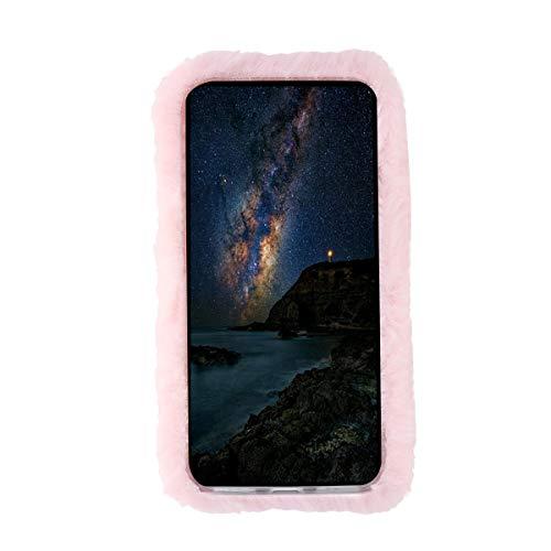 VILLCASE Phone Case Long Plush Series Autunno Inverno Cute Stylish Comoda Scaldamani Cover Per Cellulare Cover Per Motorola Moto E4 Plus - Rosa