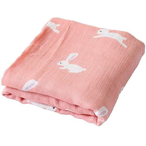 Willlly mousseline deken voor baby chic casual 120 x 120 cm baby bamboe katoen wrap burp handdoek stof voor kinderwagens en jongens (Flamingo) Size Hase