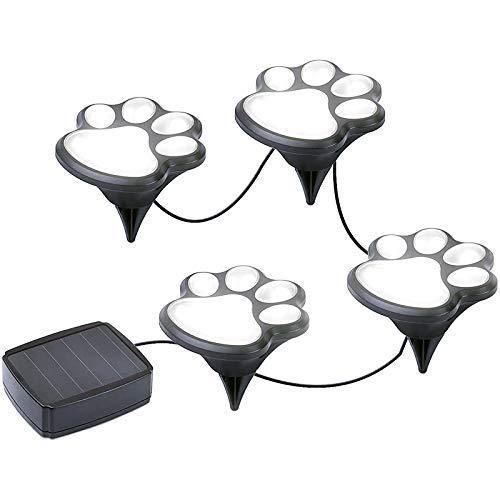Puppy Paw Print Garten Lichter solarbetriebene Haus und Garten Gehweg Beleuchtung Outdoor Decor Hund Katze