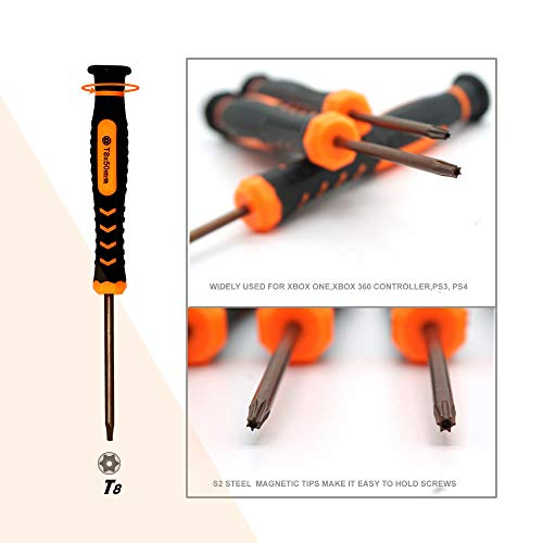 T8 Torx Screwdriver,TECKMAN TR8 Torx Security Screwdriver for Macbook,HDD,PS3,PS4,Xbox one and Xbox 360 Controllers Repair