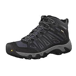 KEEN Men's Oakridge Mid Waterproof Shoe, Magnet/Gargoyle, 8.5 M US