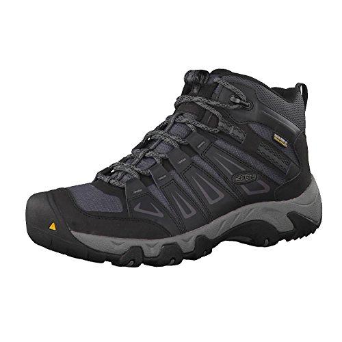KEEN Men's Oakridge Mid Waterproof Shoe, Magnet/Gargoyle, 12 M US