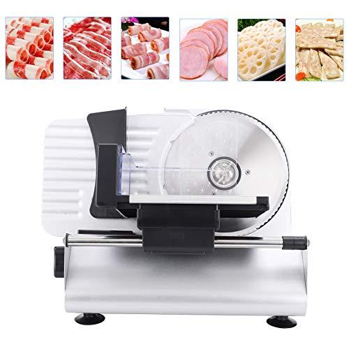 Jingyig Lebensmittelschneidemaschine, 150W Küchenzubehör Lebensmittelschneider, elektrisch einstellbare Dicke für Käsebrot