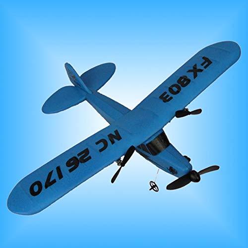 HBBOOI Planeador del Aeroplano Los Juguetes de Control Remoto RC helicóptero Plano la Espuma del EPP 2CH 2.4G de Juguetes for aeronaves Regalo del niño Principiante (Color : Azul)