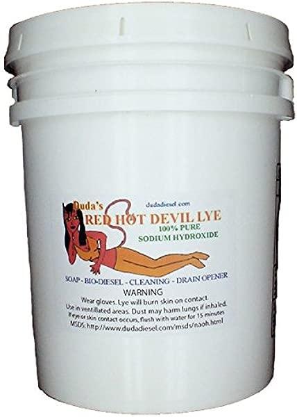 50 Lb Red Hot Devil Lye Sodium Hydroxide Meets Food Chemical Codex High Grade Caustic Soda Beads