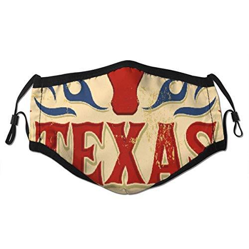 dpcm Pañuelo reutilizable de media cara, póster vintage de Texas estilo vaquero occidental, cubierta de boca ajustable deportiva al aire libre