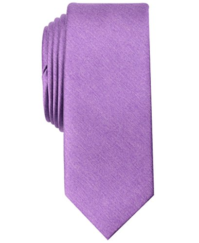 Original Penguin Men's Solid Satin Super Slim Tie, purple, One Size