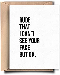 Funny Miss You Card for Friend Quarantine Birthday Card for Best Friend Social Distancing Gift