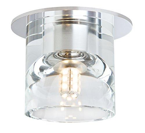 Paulmann 920.21 Quality EBL Set Glassy Cube 3x1W 230/12V Niedervolt 83mm Klar/Chrom 92021 LED Spot Einbaustrahler Einbauleuchte