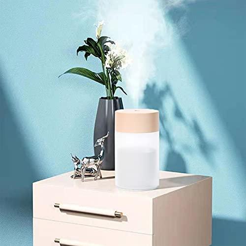 Glow Diffuser -Car humidifier & Oil Diffuser,Mini Air Purifier,Desktop humidifier,Car humidifier,Colorful Night Light humidifier,Mist humidifier Aroma Diffuser (Pink)