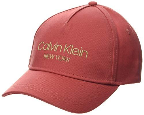 Calvin Klein Damen Ck Ny Bb Baseball Cap, Rot (Coral Xa4), One Size (Herstellergröße: OS)