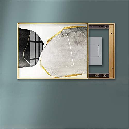 Quadro Decorativo per Quadri elettrici, Light Switch Astratta Metal Box Pittura della Decorazione murale Obscure Quadro Elettrico per Quadro Elettrico (Color : B, Size : A)