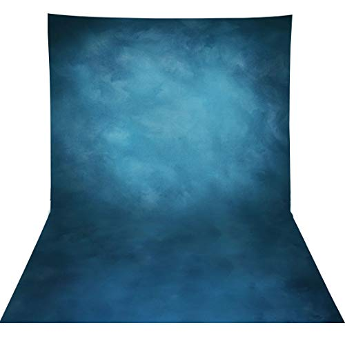 Allenjoy 5x7ft Old Master Fabric Blue White Photography Backdrop Modern Muslin Abstract Texture Background for Professional Portrait Photographers Photoshoot Studio Booth Props