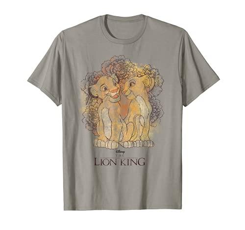 Disney Lion King Simba and Nala Watercolor Graphic T-Shirt