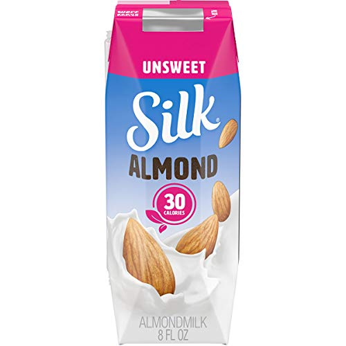 Silk Shelf-Stable Almondmilk Singles, Unsweetened, Dairy-Free, Vegan, Non-GMO Project Verified, 8 oz., 6 Pack (Pack of 3) (Packaging may vary)