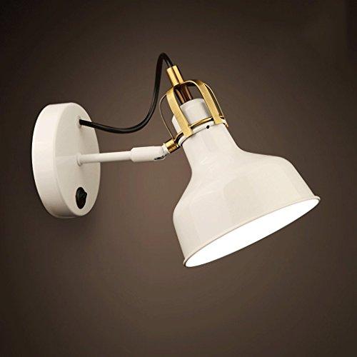 Good thing Applique Moderne Simple Tête Unique Mur Lampe Creative Fer Chambre Aisle Balcon LED Lampe De Chevet