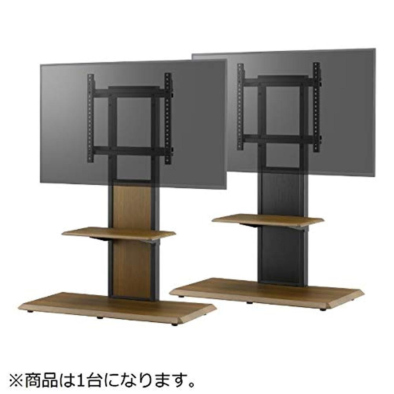 エーカー裁判官レーダー朝日木材加工 壁寄せ テレビ台 WB style 40~65型 幅85㎝ ブラウン 棚付き AS-WB850