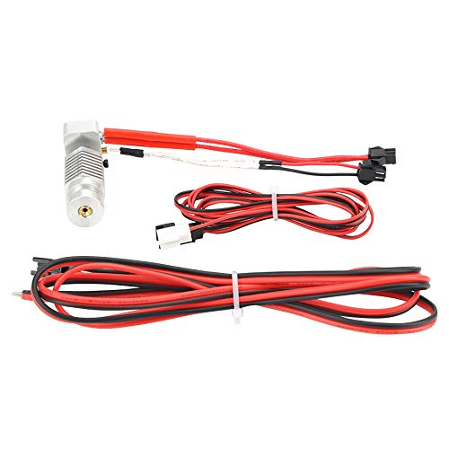 Gaoominy 1Set R1 R1+Hexagon Hot End Kit 1.75Mm All Metal Hotend 12V with 100Kohm Thermistor 0.4Mm Nozzle for Robo R1 3D Printer Parts