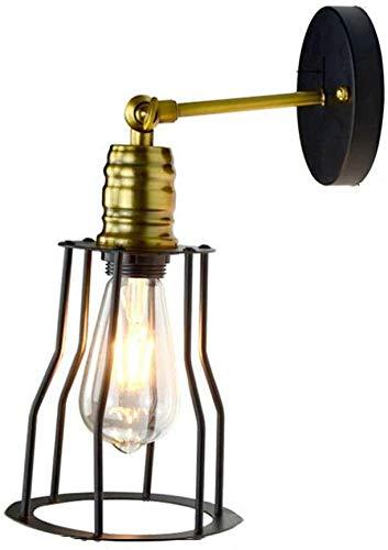 Mkj wandlamp, lampen, Allee, spiegel, hoofdlamp, hal, lampen, industriële wandlampen, vintage-design, wandlamp, verstelbaar, huis, retrolampen, E27, metalen stekker
